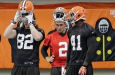 The Johnny Football Show starts here as Cleveland Browns open up training to media