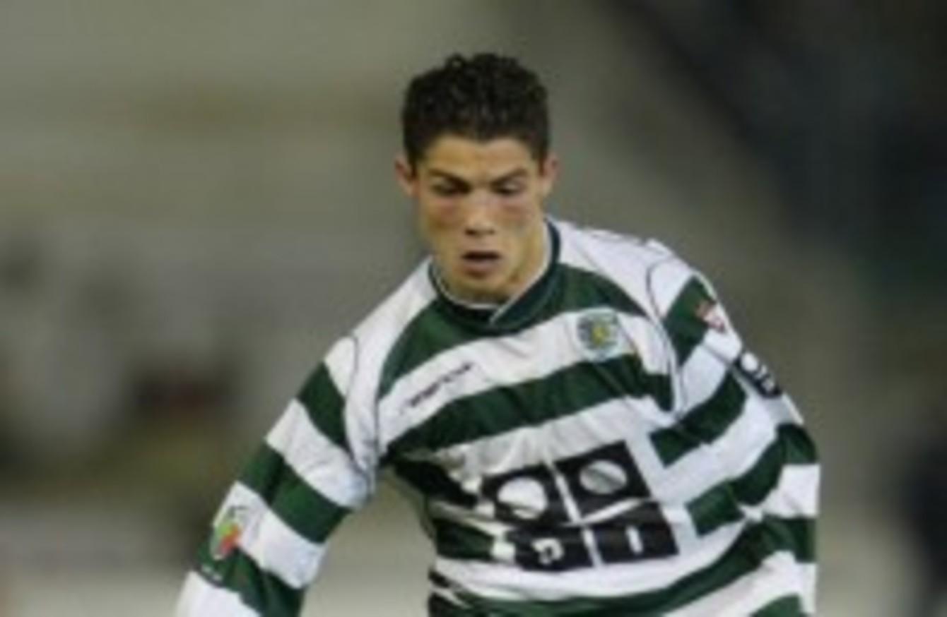 Ronaldo in full flight for Sporting.