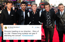 @GardaTraffic twitter account gets excited about One Direction