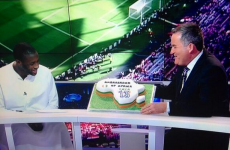Richard Keys gave Yaya Toure a birthday cake live on air last night