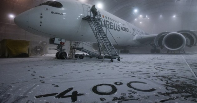 Here's how aeroplanes are tested to go into -40 degree temperatures