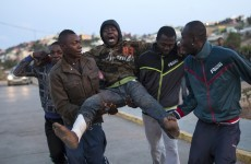 500 African migrants leapt a fence into Spanish territory today