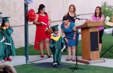 Playschooler gives the cutest graduation speech ever