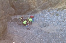 Man rescued after breaking leg in cliff fall