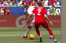Clint Dempsey, we salute you for this magnificent spinning nutmeg