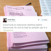 #BeGrand trends in Ireland as country tells students it will all be ok