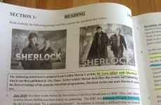 Sherlock came up in today's Junior Cert English exam