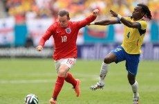 Rooney and Lambert score, Sterling is sent-off and England settle for draw with Ecuador
