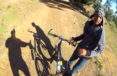 Mountain biker gets robbed at gunpoint - and films it all on his GoPro