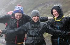Dozens of climbers scale four Irish peaks in one weekend