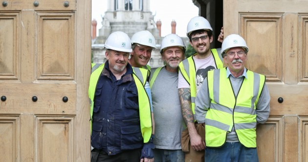 Meet the team who installed the fixed Trinity College Front Gate