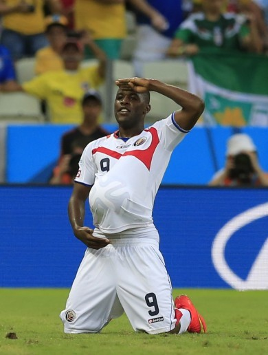 Costa Rica shock Uruguay as Suarez looks on