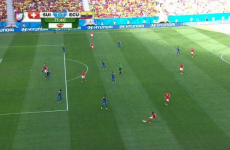 Another baffling decision at the World Cup as Swiss have perfectly-good goal ruled out