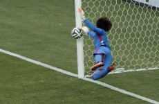 Guillermo Ochoa just produced the best save of the World Cup so far