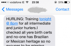This GAA club is taking no World Cup-related excuses for missing training
