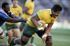"""6'8"""" Will Skelton scores one try, lays on another as Australia whitewash France"""