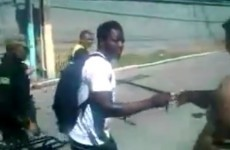 Sulley Muntari filmed handing out money on the streets of Brazil