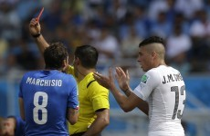 Uruguay advance to last 16 after dramatic finish against 10-man Italy