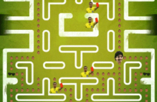 Someone made a Luis Suárez eating Giorgio Chiellini Pac-Man game