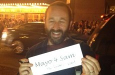 Chris O'Dowd says 'no f*ckin way' to 'Mayo For Sam' campaign