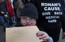 'Wonderful news': Ronan gets medical card back after 'exhausting' campaign