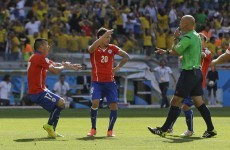 Charles Aranguiz batters home one of the World Cup's best penalties in losing cause