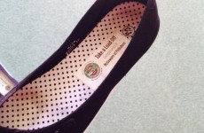Heels got you down? A Dublin pub are giving out branded flats for tired feet