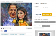 Charles Saatchi's website is selling paintings of him strangling Nigella Lawson