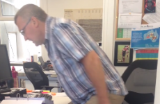 Genius employees prank boss by putting loud air horn under his chair
