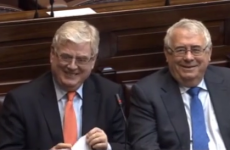 Here's one who left earlier: All smiles as Tánaiste Eamon Gilmore takes his last Dáil questions