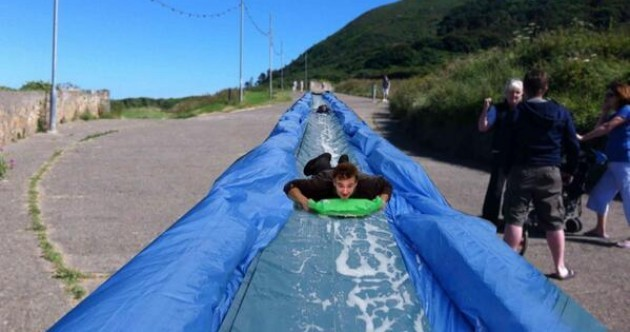 Fancy sliding down Bray Head on a 90-metre slip 'n slide? Now you can
