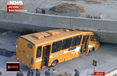 Two dead after bridge collapses on bus in World Cup host city