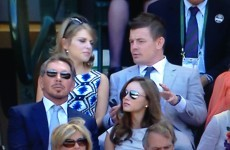 Brian O'Driscoll and Amy Huberman are in the Wimbledon Royal Box today