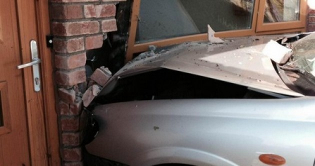 Gardaí are looking for the driver who crashed this car into a house
