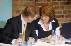 Just the two of us: Enda Kenny and Joan Burton are back in talks tonight… alone