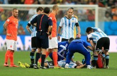 Should Javier Mascherano be free to play on after reacting to a head injury like this?