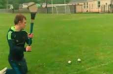 Pointing a sideline on their knees is no bother to these Clare and Waterford hurlers