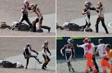 Road Rage: Two Moto3 riders fight trackside after crash