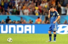 'Nothing can console me' laments Messi as world slips through Argentina's hands