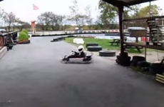 Kid parks his Go-Kart like an absolute boss