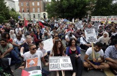 Photos: Thousands attend 'die-in' protest in Dublin over bombardment of Gaza