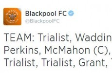 The Blackpool starting XI for today's friendly with Penrith is a real family-affair