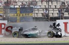 VIDEO: Lewis Hamilton suffered a bad crash in Hockenheim today