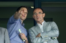 Snapshot: Martin O'Neill watched the Dubs hammer Meath in Croke Park today