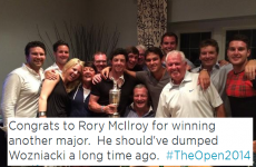 People are saying Rory McIlroy won the Open because he dumped Caroline Wozniacki