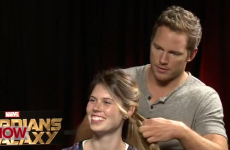 Actor Chris Pratt reveals glorious talent for plaiting hair during interview