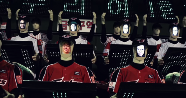 Struggling baseball team creates army of robot fans