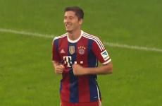 Robert Lewandowski scores a sublime chip for Bayern Munich