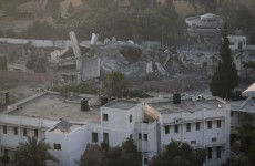 This is the Hamas Prime Minister's office after an Israeli air strike