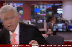 BBC newsreader makes awkward dash to his chair during live broadcast